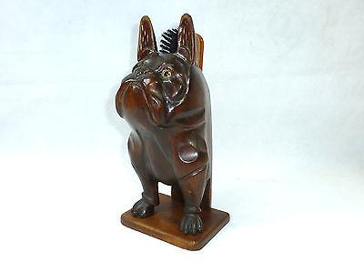 Bürstenständer um 1920 Art Deco Schweiz Bulldogge