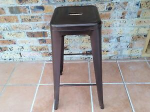 4 Brown metal bar stools 76cm high . Nowra Nowra-Bomaderry Preview
