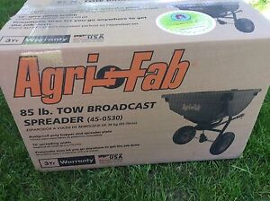 Brand new sealed box lawn tractor spreader