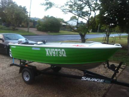 SAVAGE 3.4M TINNY + 15 HP MARINER OUTBOARD Oxenford Gold Coast North Preview