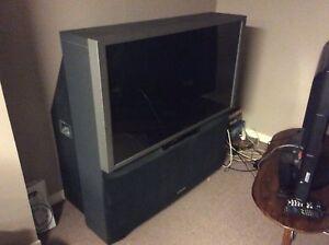 "51"" Hitachi rear projection TV - free"