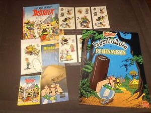 Collection album cartes autocollants revues Astérix