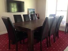 DINING TABLE AND 8 CHAIRS Milparinka Broken Hill Area Preview