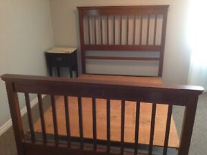 Wooden Double Bed - $60.