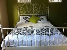 Ikea Leirvik queen white bed Ashmore Gold Coast City Preview