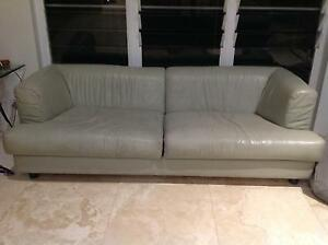 3 seat leather sofa NORTHERN BEACHES Elanora Heights Pittwater Area Preview