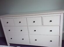 White Wood Chest of Drawers - Excellent Condition Waverley Eastern Suburbs Preview