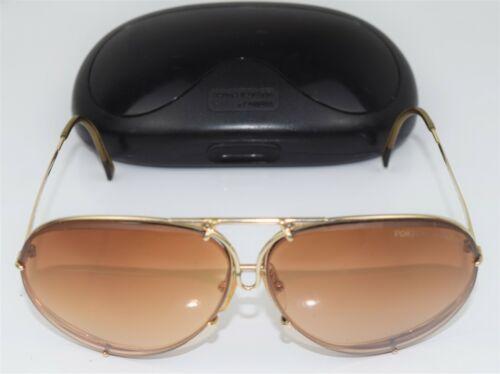 Vintage Porsche Design By Carrera Aviator Sunglasses GOLD Frame #5621 w/Case