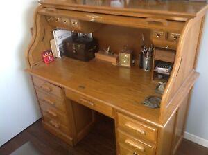 Desk Wooden Roll Top