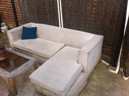 FREE L-shaped and 3 seater garden sofas Brunswick East Moreland Area Preview