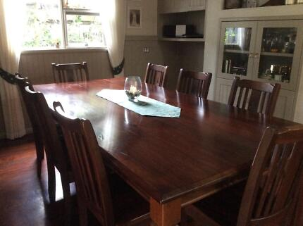 Rose Hannah Fitzroy Jarrah Dining Table And Chairs