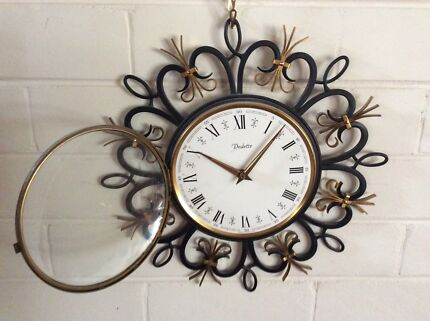 Mid century retro sunburst vedette france junghans german clock