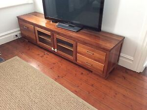 Solid timber entertainment unit in great condition Stanmore Marrickville Area Preview