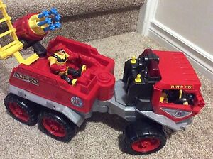 Awesome Firetruck toy--shoots water pistols! Only $10