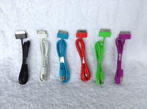 Apple iPhone, iPod, iPad Charge Cables in 6 colours, brand new