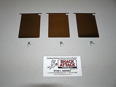 3 Vendstar 3000 Bulk Candy Machine Stainless Steel Chute Doors Springs