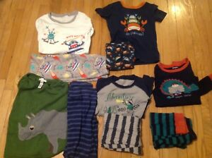 Size 8 pajamas gymboree and pottery barn. 5 pairs