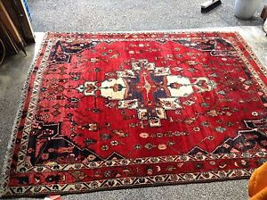 """Hand Made Persian Rug, Red Silk, 65"""" X 84"""""""