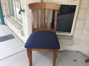 Four solid timber upholstered dining chairs Wynnum West Brisbane South East Preview