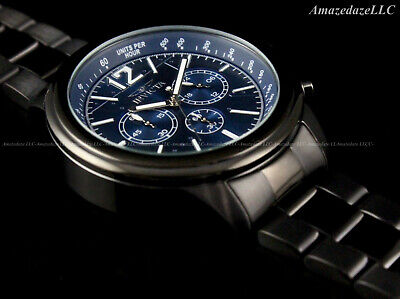 NEW Invicta Men's 50mm AVIATOR Chronograph BLUE DIAL Stainless Steel Watch !!