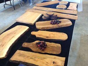Live edge serving trays.