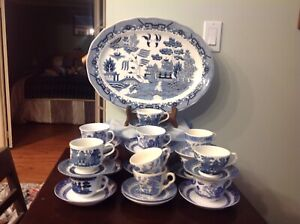 Blue Willow dishes.