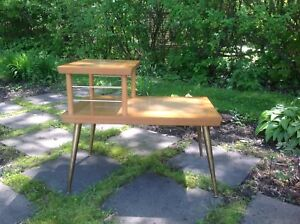 Belle table LANE Originale Vintage MCM Mid Century Bois Massif