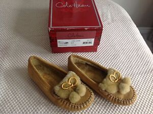 Cole Haan girls slippers/moccasins size 9