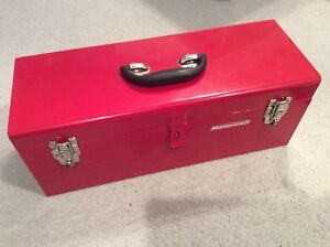 Red Mastercraft metal toolbox new 19 inches