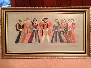 HENRY VIII Fine arts TAPESTRY. Handmade Wauchope Port Macquarie City Preview