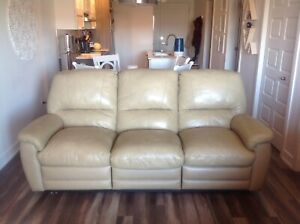 Genuine Leather Reclining Sofa