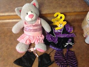 Grey Kitty build a Bear with dress and witch costume