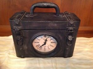Clock ~ Suitcase or old trunk look