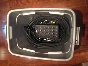 Rapco 100 foot 16 channel 4 send Audio snake