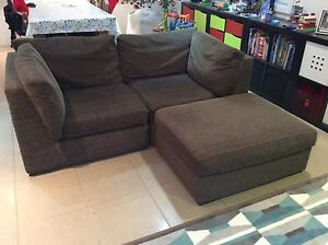 3 seater modular sofa with footstool Denistone East Ryde Area Preview