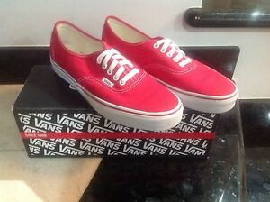 RED VANS AUTHENTIC SIZE 10 Mount Pleasant Melville Area Preview