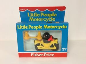 Fisher Price vintage Little People Motorcycle in the box