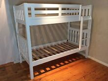 Single wooden white bunk bed SYDNEY DELIVERY & ASSEMBLY Windsor Hawkesbury Area Preview