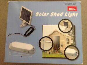 10 Light LED Grey Solar Shed Light