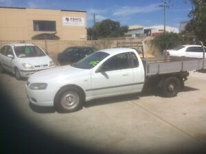 2008 FORD FALCON TRAY BACK UTE ON LP GAS.