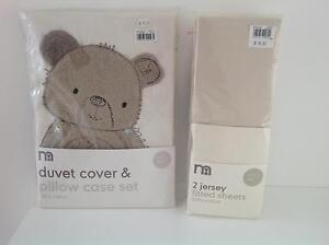Brand New Mothercare Cotton Duvet Cover & Jersey Fitted Sheets Canada Bay Canada Bay Area Preview