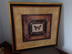 Butterfly Print - Large, glass covered and Frame