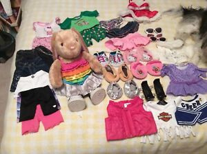 Bunny Build a Bear - heartbeat when hugged plus accessories