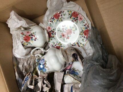 Royal Albert high tea creamer sugar bowl oval sandwich plates etc