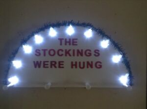 Stocking hanger with lights $25.00