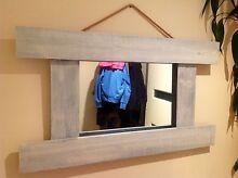 Gorgeous wooden rustic mirror Belrose Warringah Area Preview