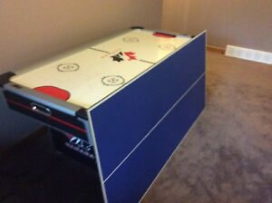 Air hockey table with a ping pong cover
