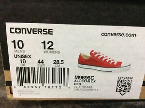 Unisex Red Converse running shoes. ***Reduced Price***