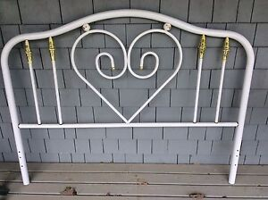 Double bed head board, foot rail and side frames
