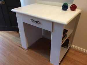 RETRO VINTAGE TIMBER DESK W/BOOKCASE ENDS AND BIG DRAWER